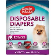 Simple Solution Disposable Diapers, 12 count, X-Small