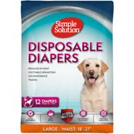 Simple Solution Disposable Diapers, 12 count, Large