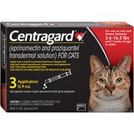 Centragard for Cats 5.6-16.5 lbs, 3 treatment
