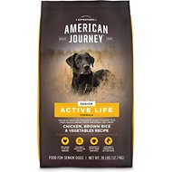 American Journey Active Life Formula Senior Chicken, Brown Rice & Vegetables Recipe Dry Dog Food, 28-lb bag