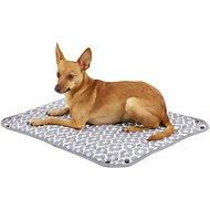 Bone Dry Reversible Lattice Kennel & Crate Dog & Cat Bed, Gray, Small