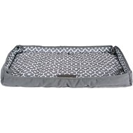 Bone Dry Reversible Lattice Kennel & Crate Dog & Cat Bed, Gray, X-Large