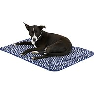 Bone Dry Reversible Lattice Kennel & Crate Mat, Navy, Large