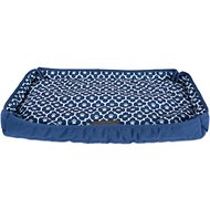 Bone Dry Reversible Lattice Kennel & Crate Mat, Navy, X-Large