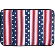 Bone Dry Stars & Stripes Dog & Cat Food Mat, Red, White & Blue, Small
