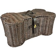 Bone Dry Bone-Shaped Wicker Storage Basket, Medium