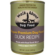 Walk About Grain-Free Duck Canned Dog Food, 13 -oz, case of 12
