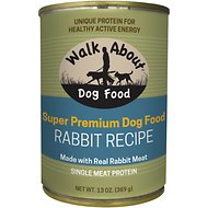 Walk About Grain-Free Rabbit Canned Dog Food, 13 -oz, case of 12