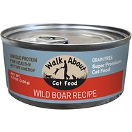 Walk About Grain-Free Wild Boar Canned Cat Food, 5.5 -oz, case of 24