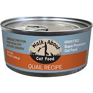 Walk About Grain-Free Quail Canned Cat Food, 5.5 -oz, case of 24