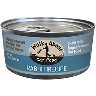 Walk About Grain-Free Rabbit Canned Cat Food, 5.5 -oz, case of 24