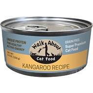 Walk About Grain-Free Kangaroo Canned Cat Food, 5.5 -oz, case of 24