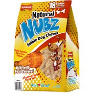 Nylabone Edibles Natural Nubz Chicken Flavor Dog Chew Toy, Large, 18 count