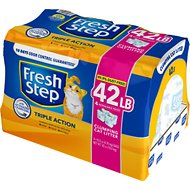 Fresh Step Triple Action Scented Clumping Cat Litter, 10.5-lb bag, pack of 4