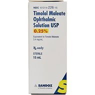 Timolol Maleate (Generic) Ophthalmic Solution 0.25%, 15-mL