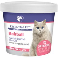 21st Century Essential Pet Hairball Support Soft Chews Supplement for Cats, 100 count