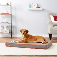 Brindle Waterproof Memory Foam Dog Bed, Charcoal Velour, Large