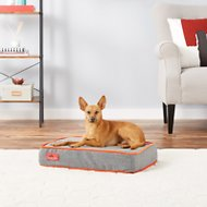 Brindle Waterproof Memory Foam Dog Bed , Charcoal Velour, Small