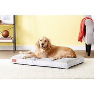 Brindle Soft Memory Foam Dog Bed, Stone, 40 x 26 in