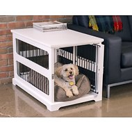 Merry Products Slide Aside Crate & End Table, White