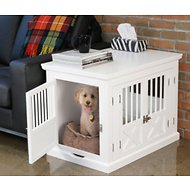 Merry Products Triple Door Dog Crate, White