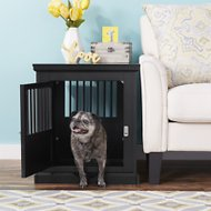 Merry Products Triple Door Dog Crate, Black