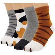 JJMax Animal Prints Unisex Socks, Pack of 4, One Size