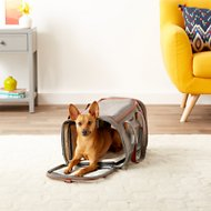 Mr. Peanut's Gold Series Expandable Airline-Approved Soft-Sided Dog & Cat Carrier, Platinum Gray