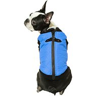Gooby Quilted Bomber Fashion Dog Vest, Blue, Medium