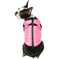 Gooby Quilted Bomber Fashion Dog Vest, Pink, Large