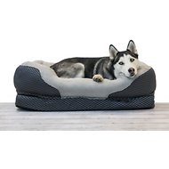 BarksBar Snuggly Sleeper Orthopedic Dog Bed, Gray, Large