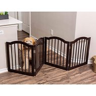 Internet's Best Traditional Arch Pet Gate, Espresso, 24-in, 4-Panel