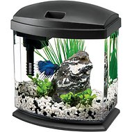 Aqueon LED MiniBow Aquarium Starter Kit with LED Lighting, Black, 1-gal