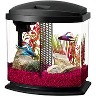 Aqueon LED BettaBow Aquarium Starter Kit with LED Lighting, Black, 2.5-gal
