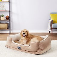 Serta Orthopedic Cuddler Dog & Cat Bed, Tan, X-Large