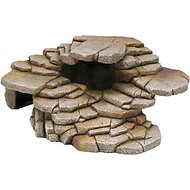 Penn-Plax Shale Step Ledge and Cave Hide-Out Aquarium Decor, Medium
