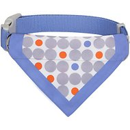 Blueberry Pet Statement Polka Dots Bandana Dog Collar, Medium