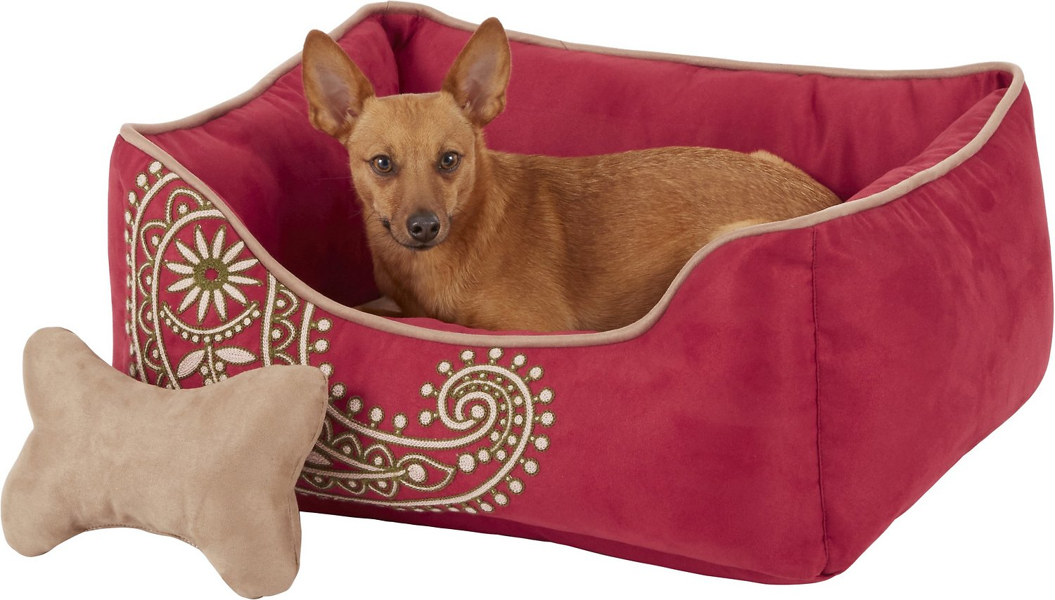 Blueberry Pet Inspired Embroidery Paisley Dog Bed
