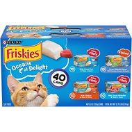Friskies Oceans of Delight Variety Pack Canned Cat Food, 5.5-oz, case of 40