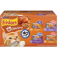 Friskies TurChicken Variety Pack Canned Cat Food, 5.5-oz, case of 40