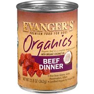 Evanger's Organics Beef Dinner Grain-Free Canned Dog Food, 12.8-oz, case of 12