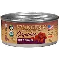 Evanger's Organics Beef Dinner Grain-Free Canned Cat Food, 5.5-oz, case of 24