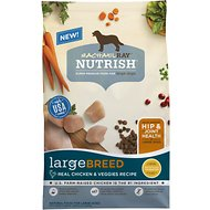Rachael Ray Nutrish Large Breed Real Chicken & Veggies Recipe Dry Dog Food, 40-lb bag
