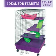 Kaytee 2x2 Multi-Level Habitat with Removable Casters Small Animal Habitat