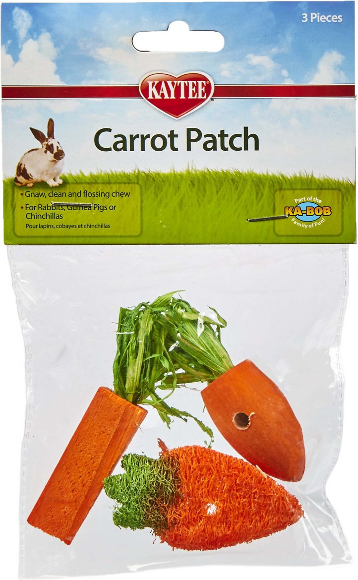 Kaytee Carrot Patch Variety Small Animal Chew Toy, 3-pack