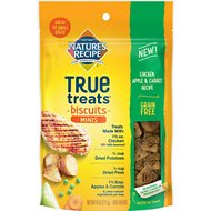 Nature's Recipe True Treats Mini Chicken, Apple, and Carrot Recipe Grain-Free Biscuits Dog Treats, 8-oz bag