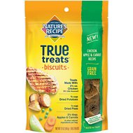 Nature's Recipe True Treats Chicken, Apple, and Carrot Recipe Grain-Free Biscuits Dog Treats, 12-oz bag