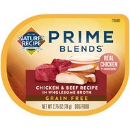 Nature's Recipe Prime Blends Chicken and Beef Recipe Grain-Free Wet Dog Food, 2.75-oz tray, case of 12