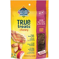 Nature's Recipe True Treats Chicken, Sweet Potato, and Apple Recipe Grain-Free Chewy Dog Treats, 8-oz bag