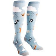 "Sock It to Me ""It's Raining Cats & Dogs"" Women's Knee High Socks, One Size"